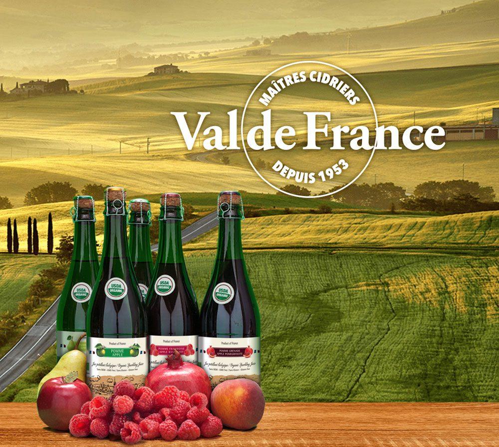 La collection de Jus pétillants Val de France